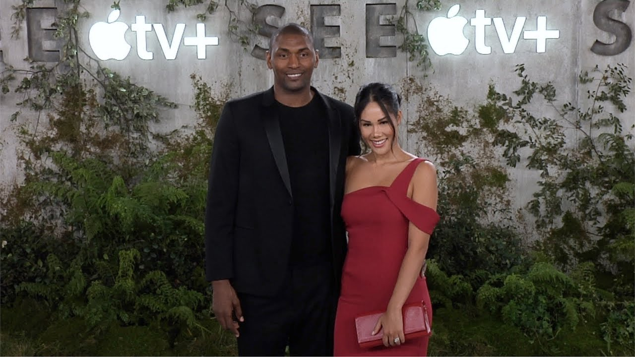 """Metta World Peace and Maya Ford """"See"""" World Premiere Red Carpet 